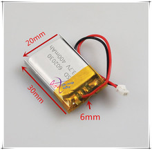 ZH1.25  3.7V 400mAh 602030 polymer lithium battery point reading pen with 1.25 audio recording plug