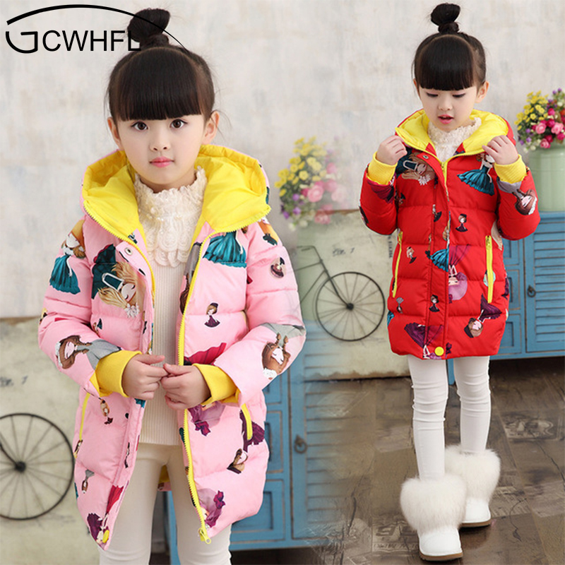 Baby Girls Jackets 2018 Autumn Winter Jacket For Girls Winter Cartoon Coat Kids Clothes Children Warm Hooded Outerwear Coats цены