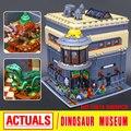 Creador Del Museo de Dinosaurios LEPIN 15015 Calle de La Ciudad MOC Kits de Edificio Modelo de Combinación Juguete Ladrillo Compatible