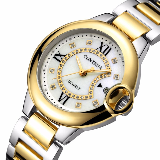 Silver Gold Wrist Watch Women Watches Ladies Luxury Brand Famous Female Clock Qu