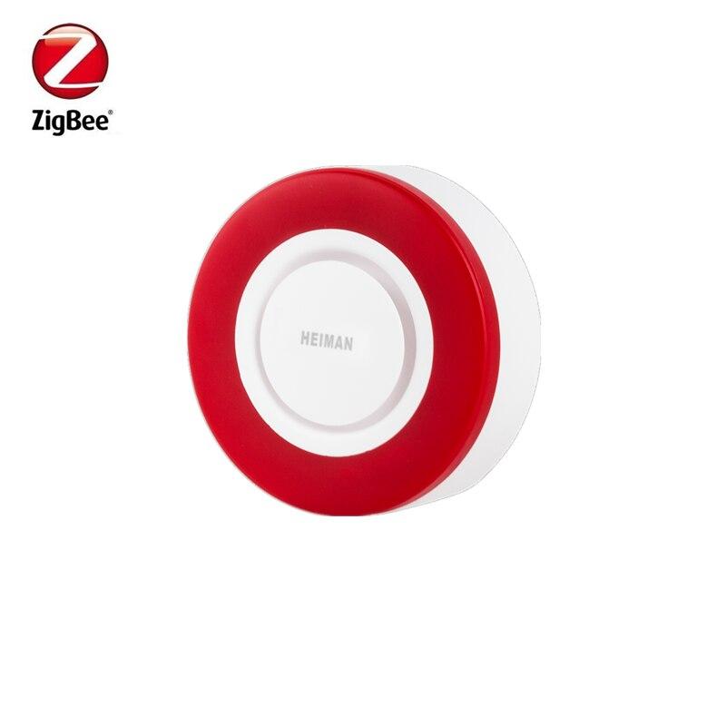 Frete grátis heiman zigbee strobe flash sirene chifre com 95db grandes sons para ameaçar ladrão