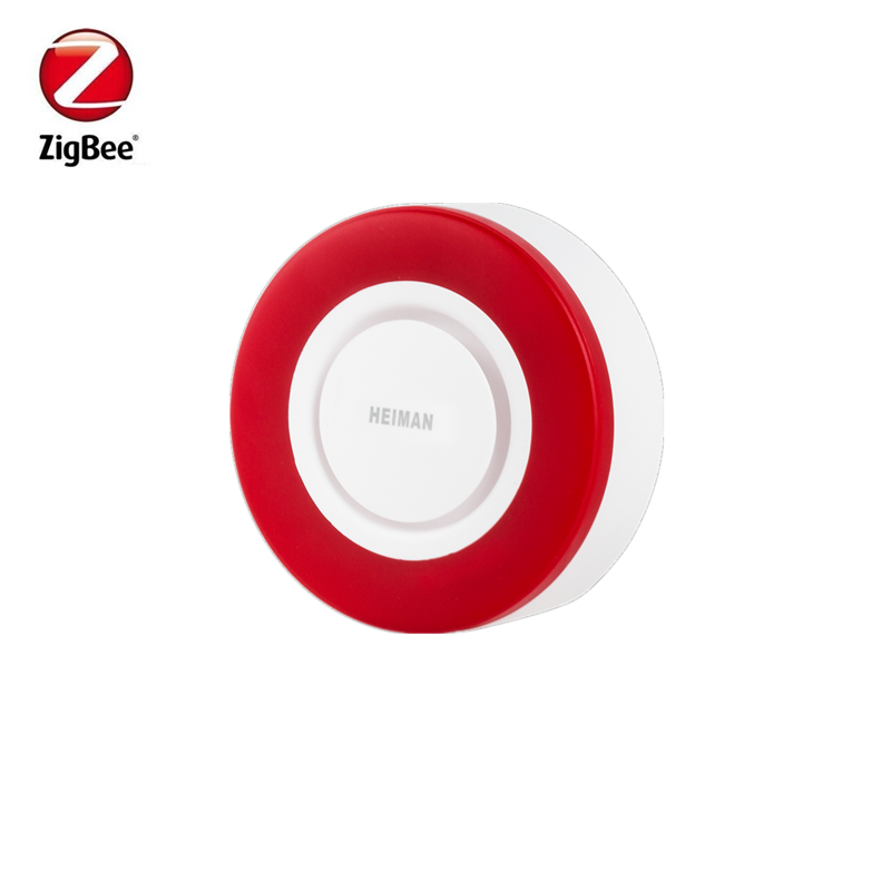 frete gratis heiman zigbee strobe flash sirene chifre com 95db grandes sons para ameacar ladrao
