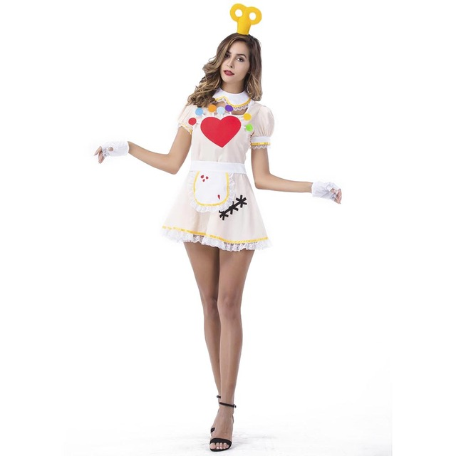 doll up Female costume blow halloween