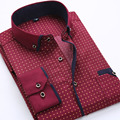 2017 autumn new men's shirt Print long sleeve casual dress shirts men Wave point Button down shirt business Camisa Masculina