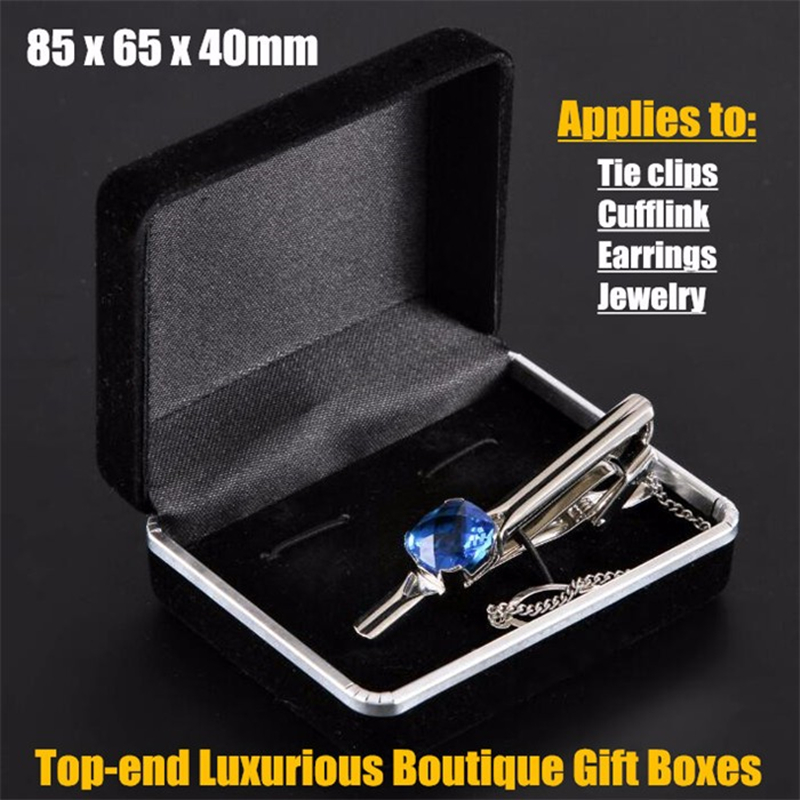 50pcs! 85x65x40mm Top-end Flannel Luxurious Boutique Gift Boxes for Tie clips,Cufflink,Earring,Jewelry Retail Packaging&Display