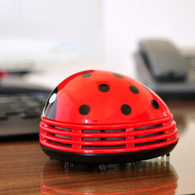 Beautiful Mini Ladybug Desktop Coffee Table Vacuum Cleaner Dust Collector For Home  Office