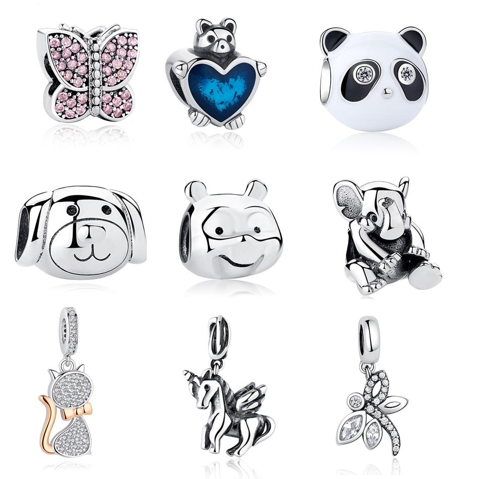 2019 New Arrival 925 Sterling Silver Enamel Bee Ladybug Flower Pendant Charm For Women Original Silver Charm Bracelet Bkc892 Beads Jewelry & Accessories