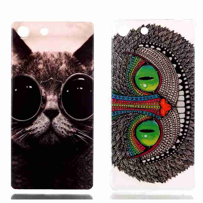 Цветы слон Cat закат на море симпатичный принт медвежонка задняя крышка сотовый телефон чехол для Sony Xperia M5 Dual e5603 e5606 e5653