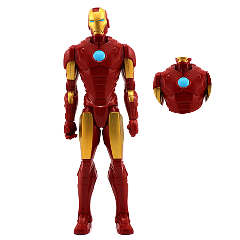 Marvel The Avengers Action Figure Toy Iron Man Mark II Superheroes PVC Collectible Model Movable for Kid Christmas Gift 12
