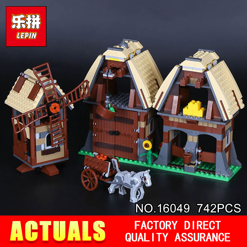 Lepin 16049 The Mill Village Raid Set Genuine 742Pcs Creative Series 7189 Building Blocks Bricks Educational Toys Model as Gift lepin 36010 genuine creative series the winter village market set legoing 10235 building blocks bricks educational toys as gift