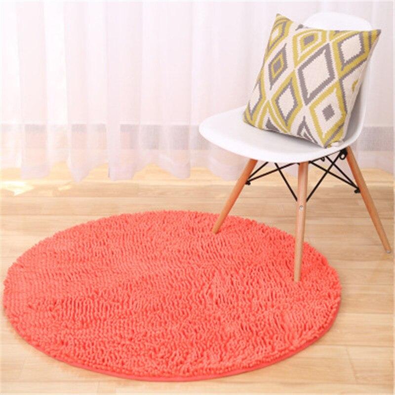@1  11 цветов синель толстый круглый ковер компьютерный стул круглое одеяло спальня коврики гостиная кру ①