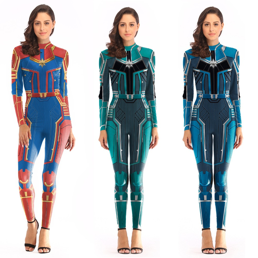 Adult Avengers 4 Endgame Captain Marvel Cosplay Costume Women Superhero Halloween Ms Marvel Carol Danvers Bodysuit Jumpsuit Buy At The Price Of 16 99 In Aliexpress Com Imall Com The captain marvel costume is not just made for a woman warrior, but for a lady who actually works out. imall
