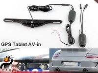 2.4G GPS Tablet için kablosuz Araç Plaka Lisansı Arka Görüş Kamerası-IR Gece görüş, Su Geçirmez