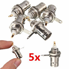 5Pcs/lot BNC Female Socket Solder Connector Chassis Panel Mount Coaxial Cable For Welding Machine Parts
