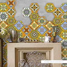 Vintage Moroccan Style Tile Sticker PVC Waterproof Self Adhesive Wall Stickers Furniture Bathroom Poster Decal Home Decoration