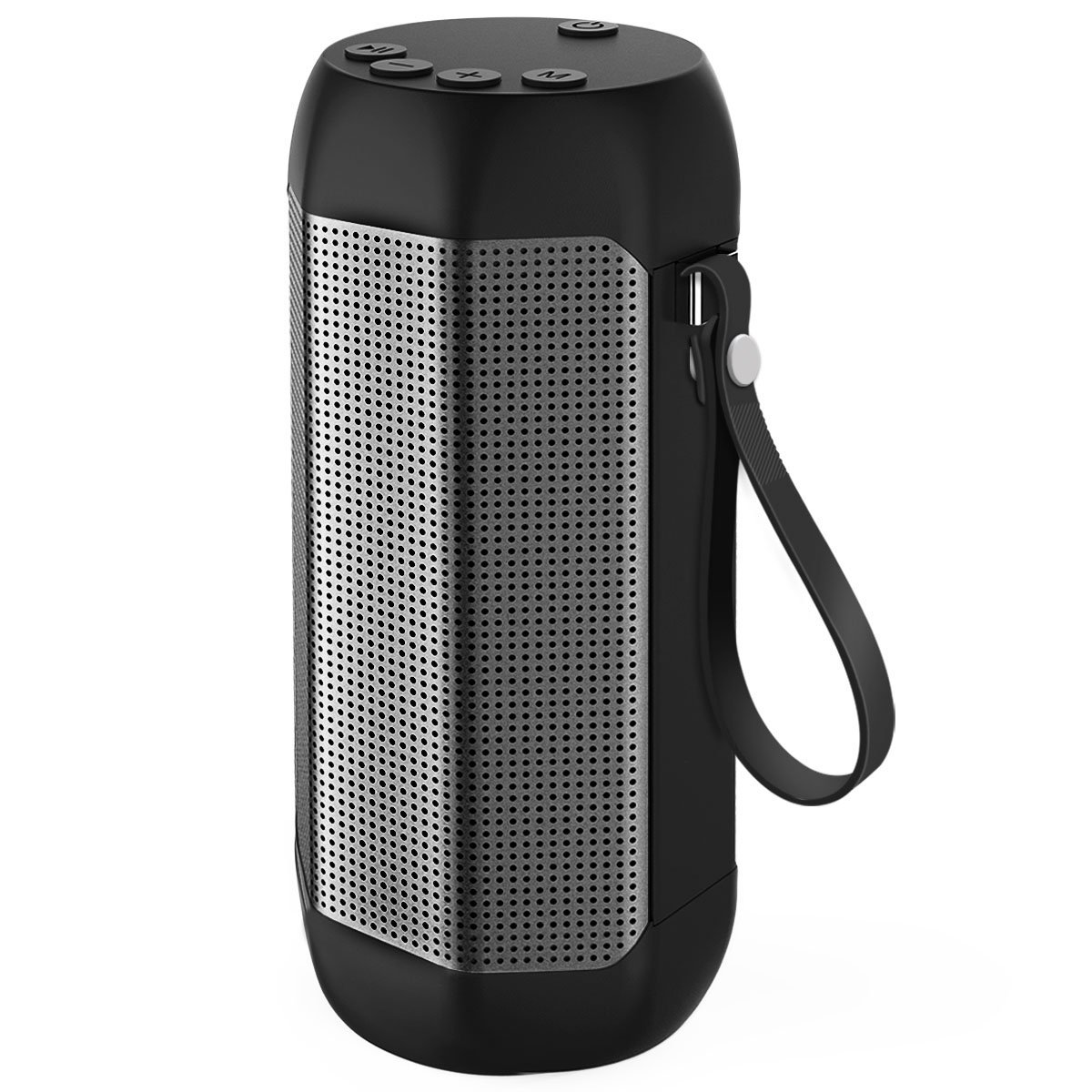 Portable Bluetooth Speaker,Wireless Speaker Outdoor Strong Bass 24 Hours Playing Time with TF Card and FM Radio Black ws 980 car model style portable 2 channel rgb light speaker w fm tf black transparent