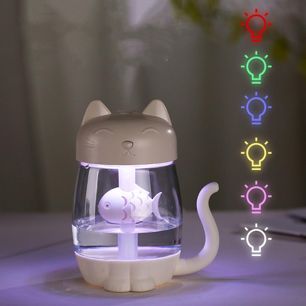 3 In 1 USB Cat Air Humidifier Mini Humidifier Essential Oil Diffuser Purifier Atomizer with LED Light for Home Office Car Hot3 In 1 USB Cat Air Humidifier Mini Humidifier Essential Oil Diffuser Purifier Atomizer with LED Light for Home Office Car Hot