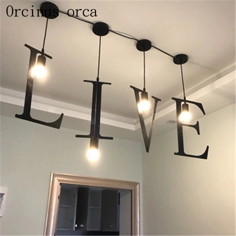Bar chandelier modern simple creative personality geometric lamp Cafe Cafe art iron art balcony letter pendant lampBar chandelier modern simple creative personality geometric lamp Cafe Cafe art iron art balcony letter pendant lamp