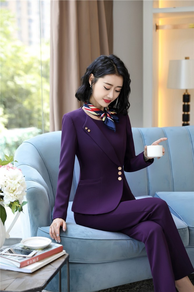 OL Styles Formal Uniform Designs Women Business Suits With Pants And Tops Ladies Office Work Wear Blazers Professional Pantsuits