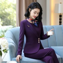 OL Styles Formal Uniform Designs Women Business Suits With Pants and Tops Ladies