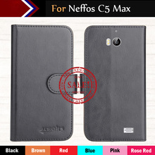 Hot!! In Stock Neffos C5 Max Case 6 Colors Ultra-thin Dedicated Leather Exclusive For Neffos C5 Max Phone Cover+Tracking чехол neffos c5 max protective case