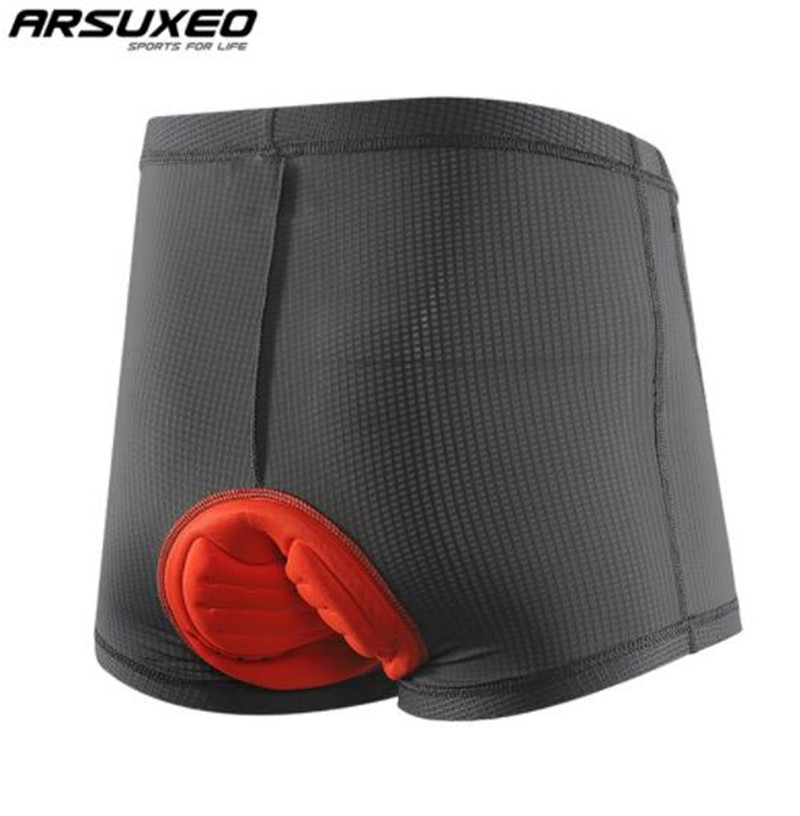 ARSUXEO Breathable Cycling Underwear 3D Padded Men Bicycle Comfortable MTB Bike Short Shorts