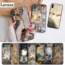 Lavaza palace of versailles The Creation Adam Silicone Case for iPhone 5 5S 6 6S Plus 7 8 11 Pro X XS Max XR