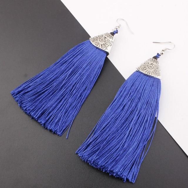 2018 Good quality HOT sale long tassel earring earring for wholesale drop shippi