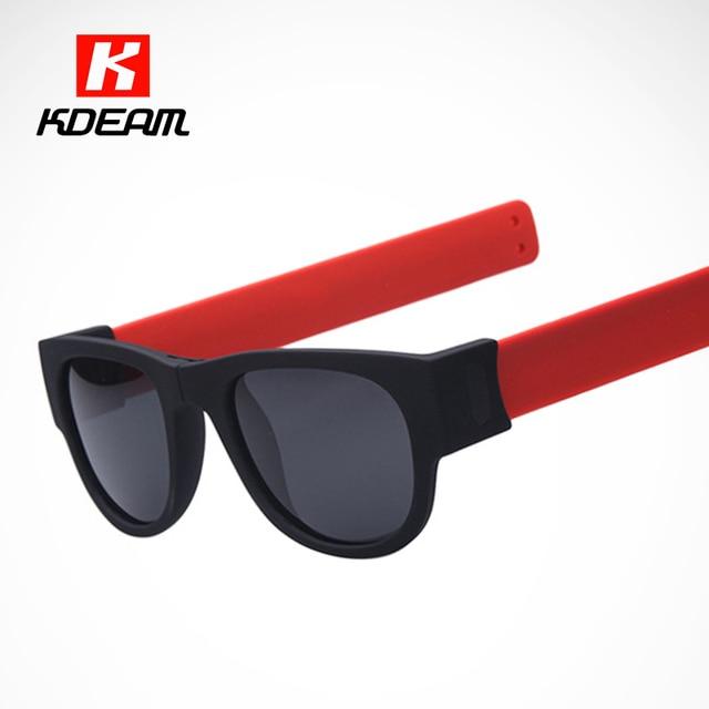 416c637b104 Kdeam FOLD Sunglasses Men Polarized Sunglass Bracelet-style Foldable Sun  Glasses Women With Box Innovative