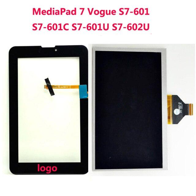 Замена жк-Экран Для Huawei MediaPad 7 Vogue S7-601C S7-601U S7-602U Сенсорная Панель С Сенсорным Экраном Дигитайзер Стеклянный Объектив