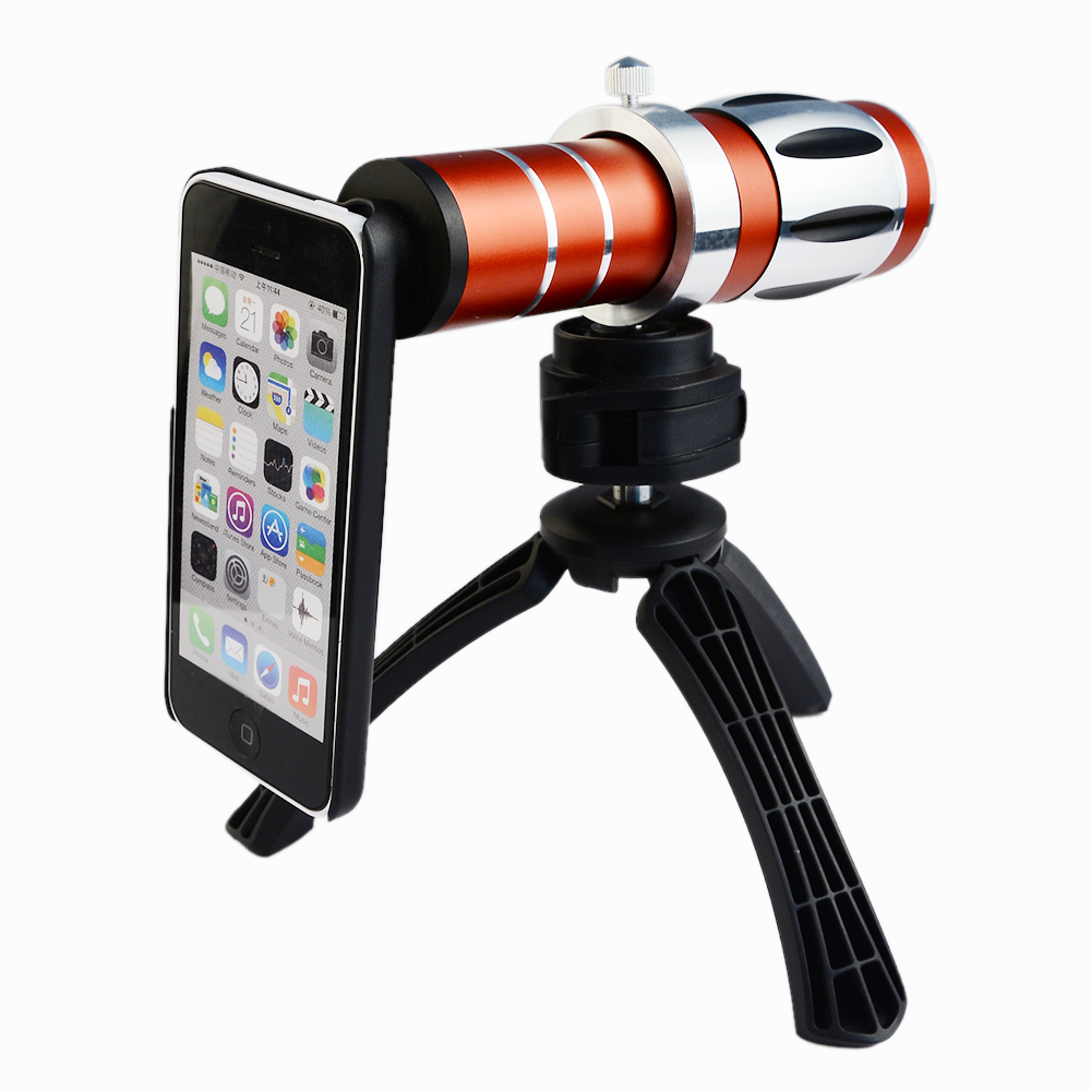 HOT Gift 20X Optical Zoom Case Cover SE 6S Telescope Lens Telephoto Holder Camera Tripod For Apple Iphone 6 6S PLUS 7 5 5S SE 8x zoom optical mobile phone telescope camera white