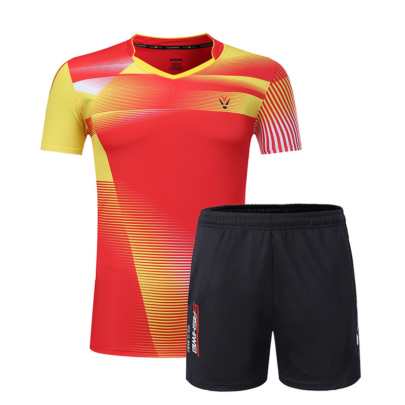 New Qucik Dry Badminton Sports Shirts Women/Men , Table Tennis Clothes, Tennis Suit , Badminton Wear Sets