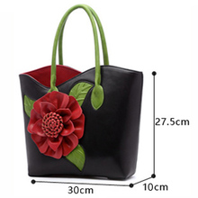 Women Floral Luxury Leather Large Handbags (6 colors)