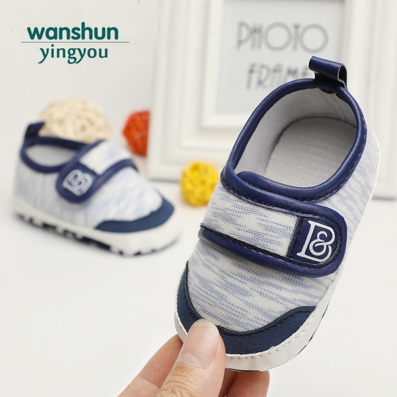 4 Colors Baby Boys Shoes First Walker Fashion Cool Hoop&Loop Sneaker Anti-slip Prewalker Bebes Toddler Infant First Steps Canvas