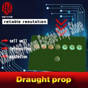 Image 3 - Draught chống đỡ thực phòng thoát khỏi trò chơi chống đỡ jxkj1987TAKAGISMgame Công Tắc Nút draught nhảy cầm cờ mở EM khóa