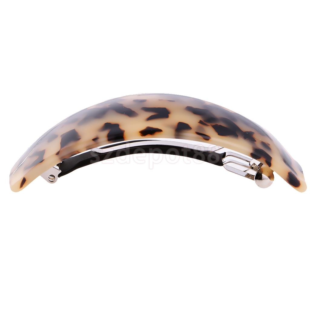 Leopard Pattern Plastic Spring Barrette Pin Clip Hair Claw Banana Ponytail Hair Accessory For Women Girls Hairdresser