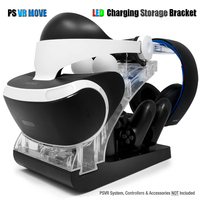 PS VR Move PS4 Controller PSVR Headset Storage Showcase Joystick Charger Charging Dock Station Stand for PS VR MOVE Controller
