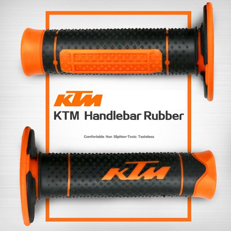 Expédition rapide 7/8 moto Poignées Poignée En Caoutchouc Bar Gel Grip Orange Modifié Accessoire Pour KTM Duke 125 200 390 690 990
