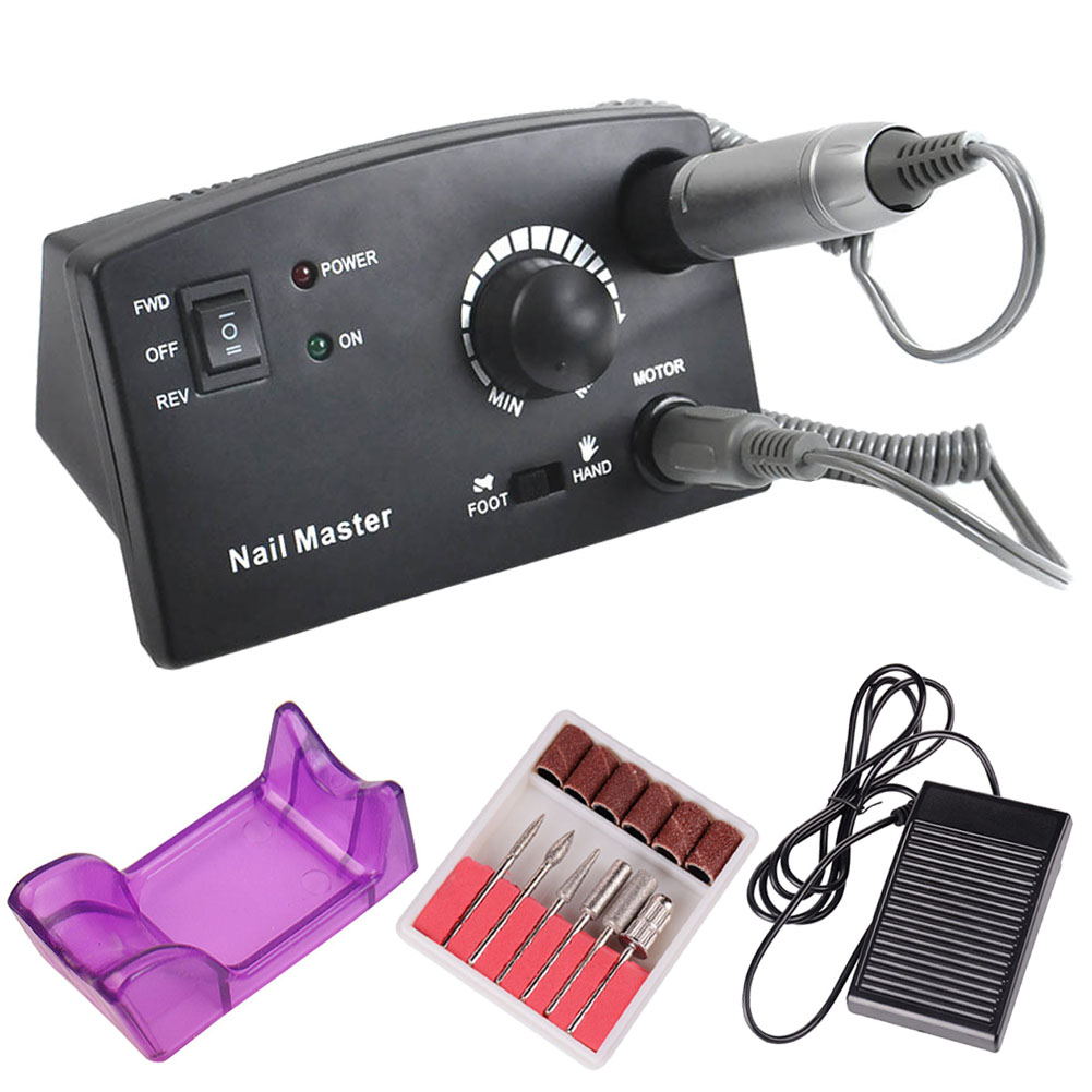 Electric Nail Drill Machine Kit 35000 RPM Nail Cutter Bit File Manicure Pedicure Tools Set SSwell