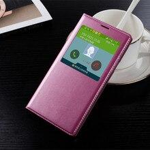Оригинальный стиль телефон case для samsung galaxy s5 i9600 g9000 окно посмотреть кожа флип чехол для samsung s5 с логотипом + чипы