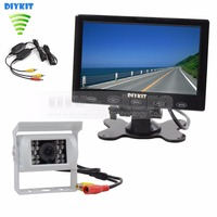 Wireless 7 Inch Touch Monitor Rear View Kit For Horse Trailer Motorhome Backup CCD Waterproof Camera
