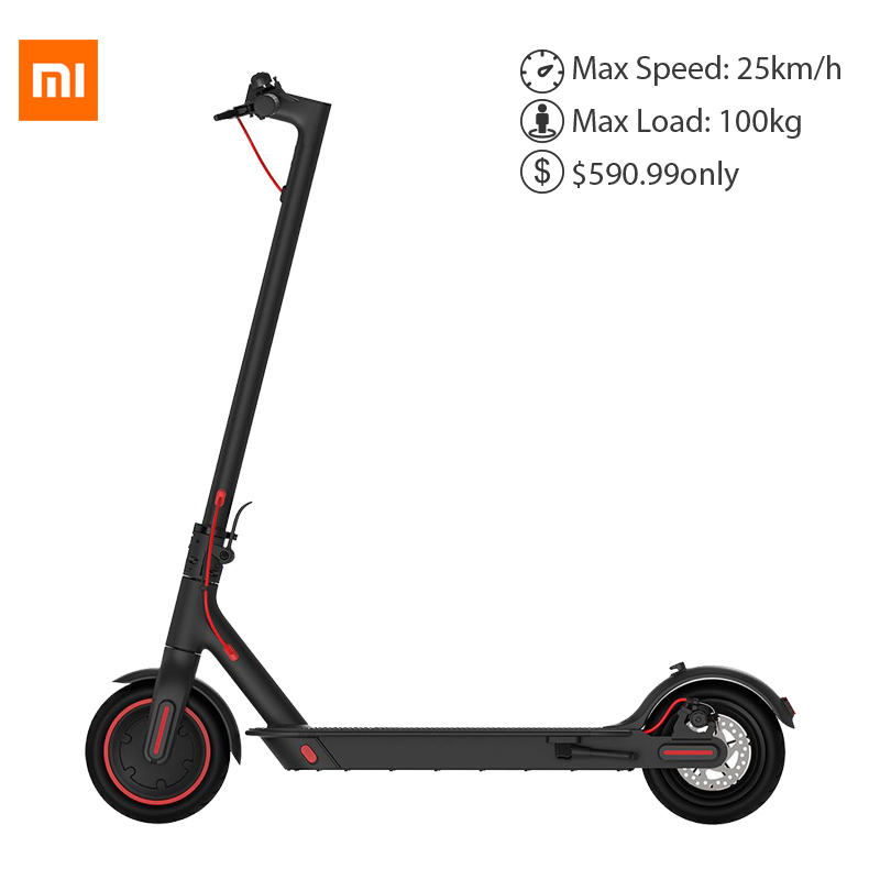 Xiaomi Scooter Électrique Pliant Pro 3 vitesse mode 300 W Motor max load100kg patinete electrico adul 45 KM Double Frein vs iscooter