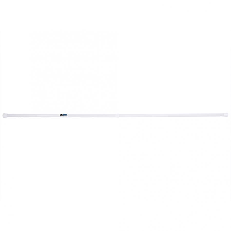 Extendable Telescopic Voile Net Curtain Tension Rod Pole Rod Rail Shower Window 85-150cm