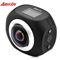 Amkov AMK360S 2 7K WiFi Action Camera With Remote Control 360 Degree Panorama