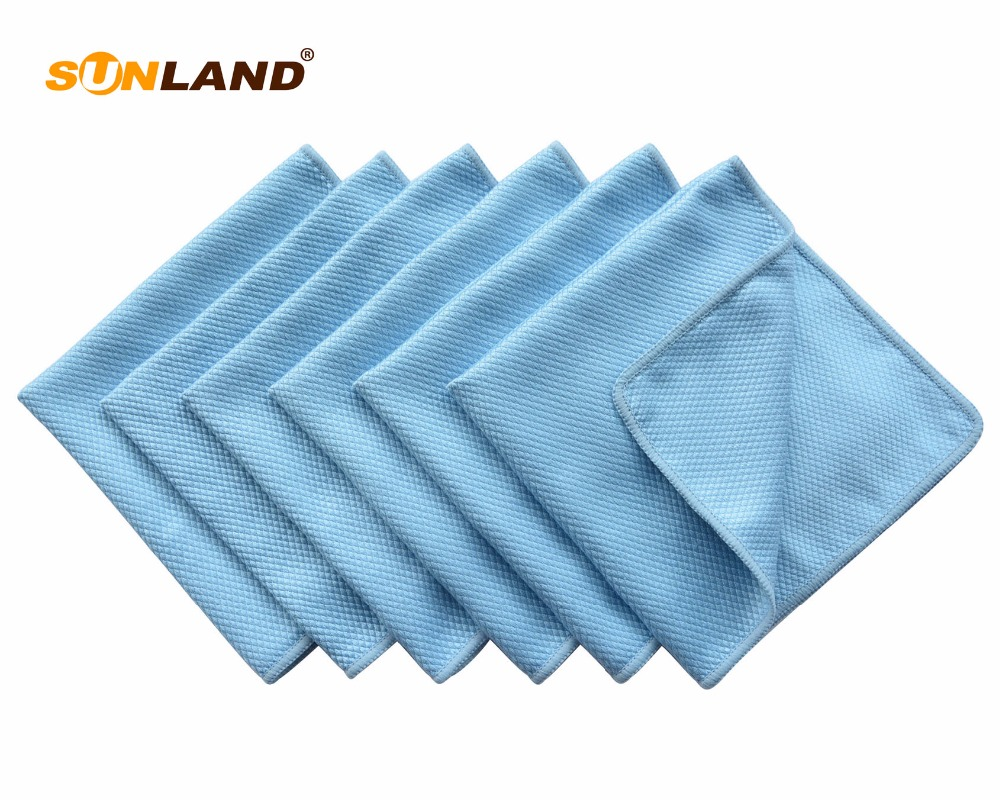 Microfiber Polishing Cleaning Towel Glass Stainless Steel Shine Cloth Window Windshield cloth 40cmx60cm 30 Pieces
