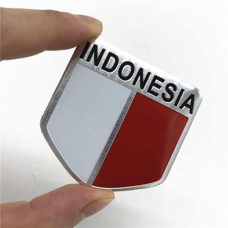 Asie corée turquie indonésie drapeau National en aluminium voiture style autocollant emblème Badge accessoires pour Honda Toyota BMW Opel