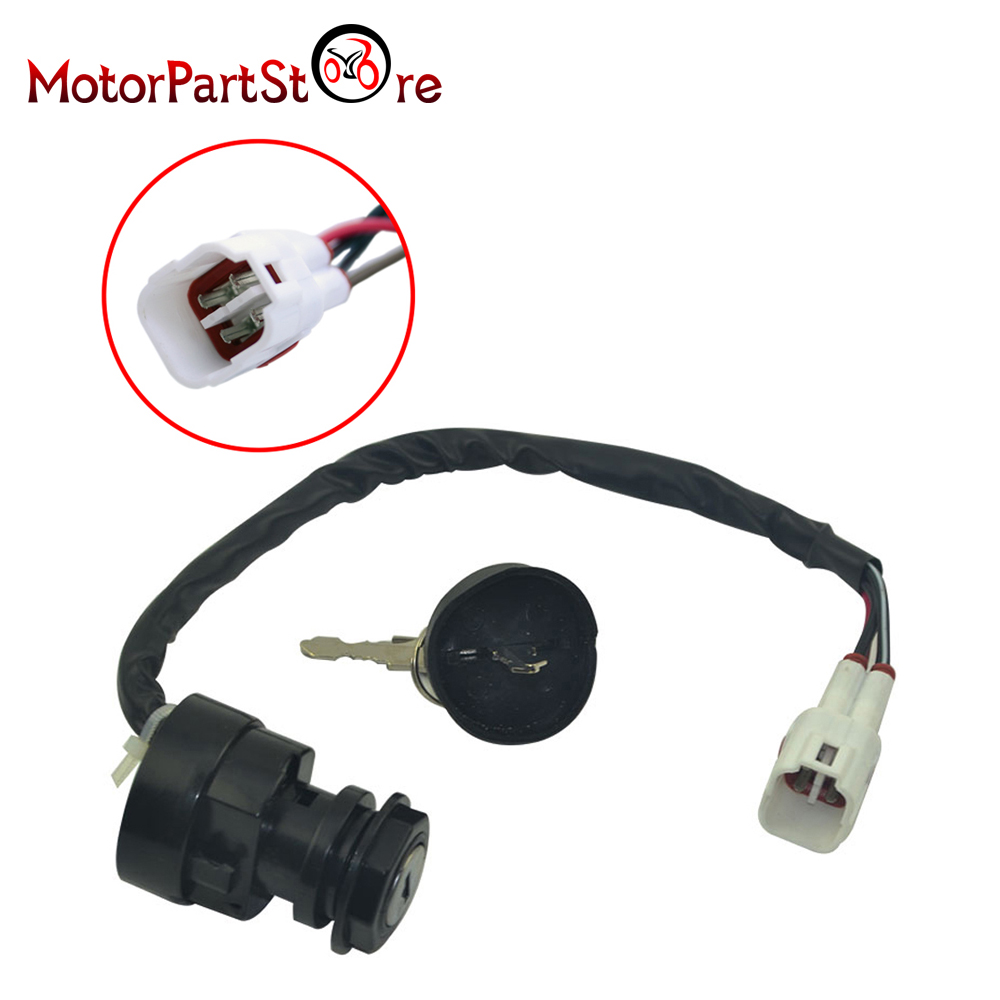4 wires terminals ignition key switch for yamaha yfm400. Black Bedroom Furniture Sets. Home Design Ideas