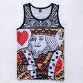 Hot Sale Leisure Clothing 3D Print King Red Old K Poker Vest Summer Singlets Characters Stringer Vest Hipster Tank Tops Sudadera