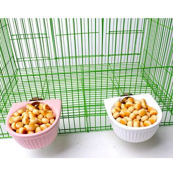 Creative Ceramic Hanging Pet Food Bowl Non-Slip Anti-Turn Hamster Bowl Pet Feeder Bowl For Chinchill Gerbil Pet Feeding Supplies 4