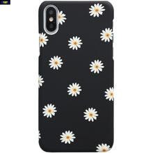 цены на Beauty Frosted Cute Daisy Flower Case For iphone 7 Case Cartoon Floral Ultra thin Hard Back Cover For iphone 5 5s 8 6 6s Plus X  в интернет-магазинах